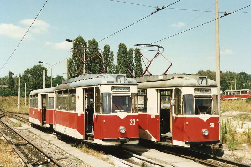 Gotha-Züge auf Linie 1 und 7