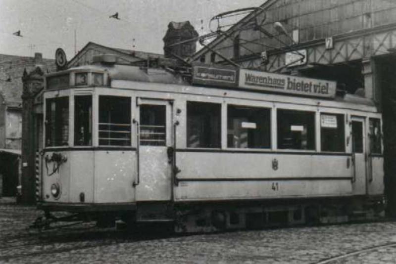 Um 1970 im Betriebshof Bachgasse