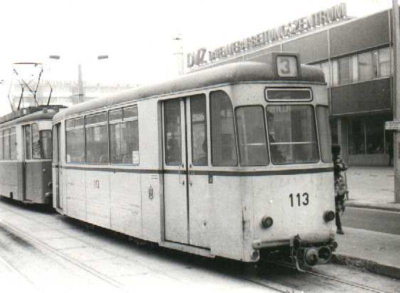 Beiwagen 113 am Platz der Republik um 1980