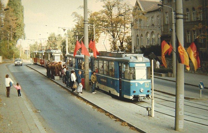Die Haltestelle Bahnhof 1988