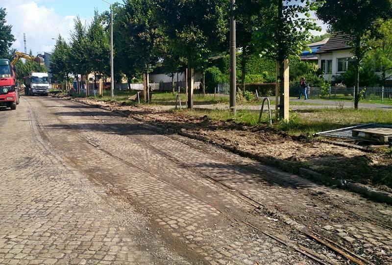 Jahrzehntealte Gleisreste im Buschmühlenweg
