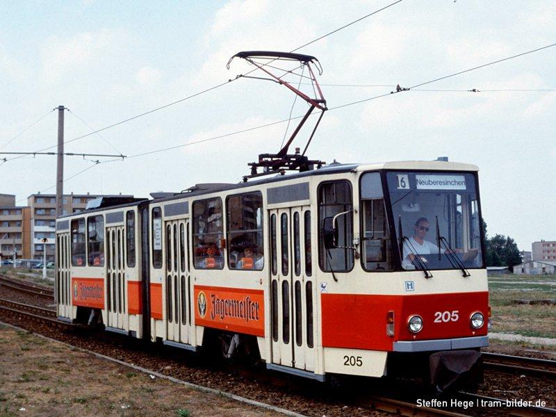 KT4D 205 an der Birkenallee 1992