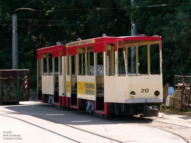 Überzählige Straßenbahnwagen werden verschrottet
