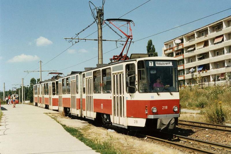 Tatra-Doppel auf Linie 7
