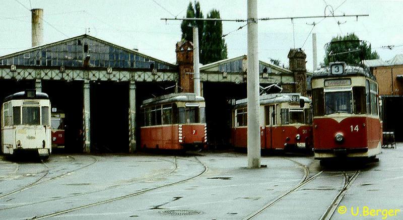 Betriebshof Bachgasse im Sommer 1986