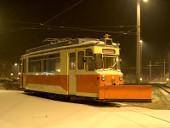 Winterabend mit Arbeitswagen 2