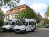 SVF-Kleinbusse am Holzmarkt