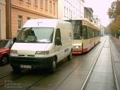 Zweite-Reihe-Parker stoppt Straßenbahn