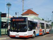 Gelenkbus 541 am Bahnhof