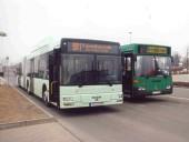 Zwei Generationen Gelenkbusse