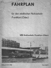 Fahrplanheft 1983