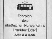 Fahrplanheft 1985