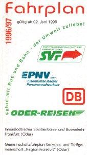 Fahrplanheft 1996
