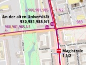 Haltestellensituation Karl-Marx-Straße