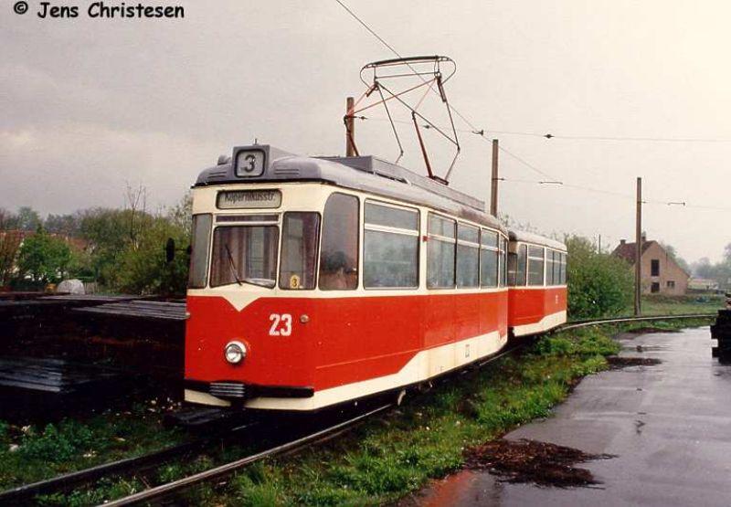 Wagen 23 in der Schleife Lebuser Vorstadt