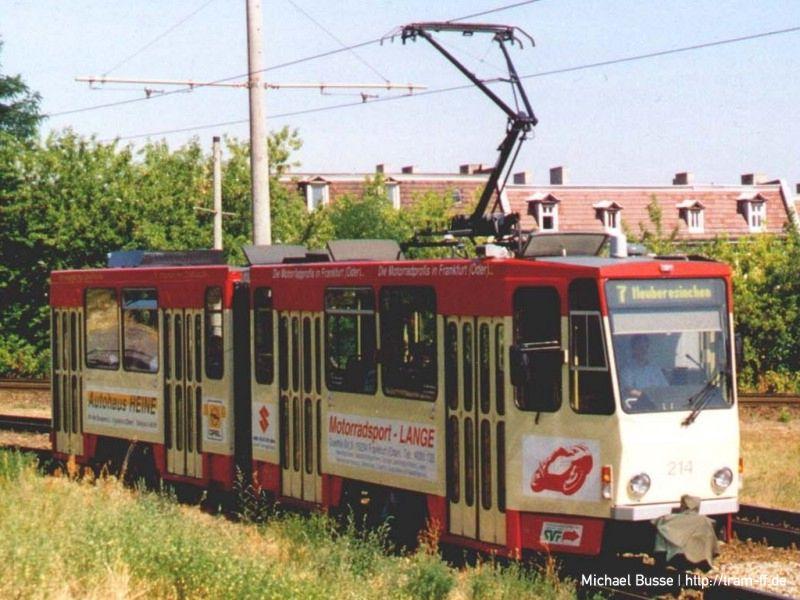 KT4DM 214 im Gleisdreieck Johann-Eichorn-Straße