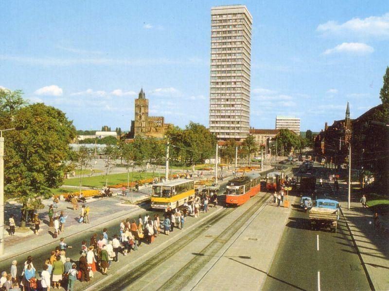Die Haltestelle Zentrum in den 1980er Jahren