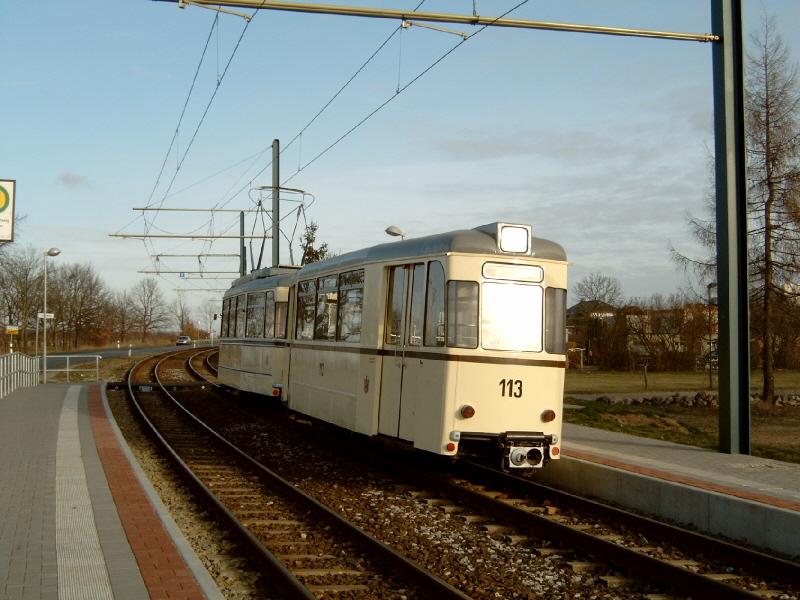 Historischer Beiwagen 113 in Markendorf