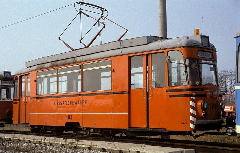 Geraer Gleispflegewagen 103