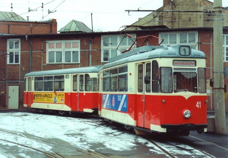 Gotha-Zug 41 + 103 im Depot Bachgasse