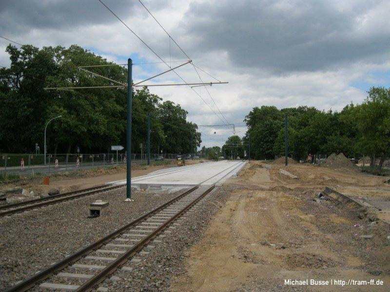 Umbau Haltestelle Markendorf, Ort