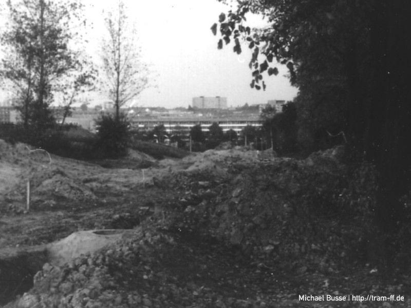 Buckower Straße im November 1986