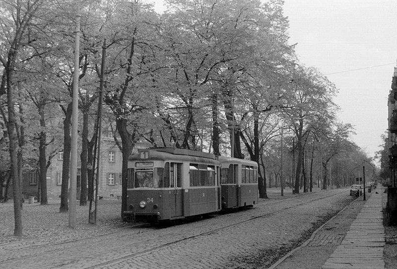 Gothawagen 34 etwa 1982 auf der Oderallee