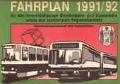 Fahrplanheft 1991